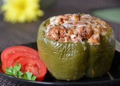 Tender bell peppers filled with a super yummy ground beef and rice mixture topped with melted cheese. Beef Recipes, Cooking Recipes, Healthy Recipes, Cooking Ideas, Recipies, Veggie Recipes, Pasta Recipes, Food Ideas, Great Recipes