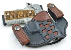laser cut out leather holster with lizard inlay 1911 Leather Holster, 1911 Holster, Gun Holster, Ccw Holsters, Custom Holsters, Revolver, Pancake Holster, Leather Stamps, Leather Pattern