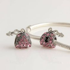 CLLW049 925 Sterling Silver Love Heart Lock Pink Crystal Pandora beads Screwed Core on sale,for Cheap,wholesale