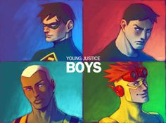 Young Justice BOYS by *Cris-Art on deviantART