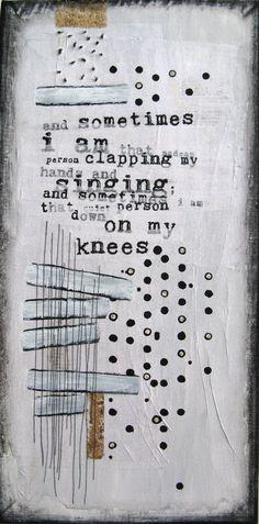 Anca Gray mixed media painting  The World Inside My Closet http://www.etsy.com/shop/ancagray