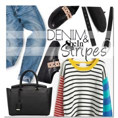 How To Wear Denim&stripes Outfit Idea 2017 - Fashion Trends Ready To Wear For Plus Size, Curvy Women Over 20, 30, 40, 50