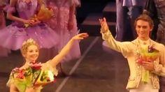 Evgenia Obraztsova as Aurora and Denis Rodkin as Prince in Sleeping Beauty curtain calls