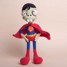Zombie Superman Amigurumi Pattern