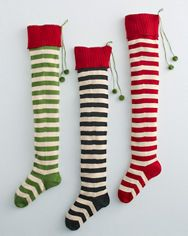 Striped Holiday Stocking
