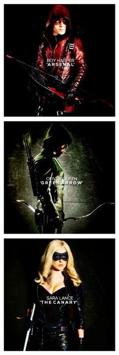 Arsenal, The Arrow, & The Canary << Sara was a better Canary than Laurel (she's hotter), but I still miss Laurel. And I want Dinah to have her relationship with Ollie (kill Felicity already) The Arrow, Arrow Cw, Arrow Oliver, Arrow Felicity, Arrow Quote, The Flash, Arrow Flash, Series Dc, Arrow Tv Series