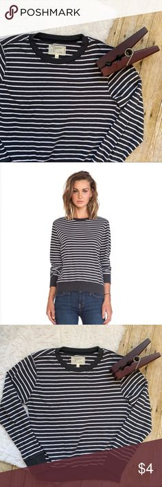 d0fefb5fe3d2 Current Elliot Stripped The Shrunken Jogger Sporty stripe athleisure styled  sweatshirt with a classic crewneck