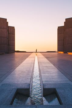 The timeless classic courtyard designed by Luis Barragán for the Salk Institute by Louis Kahn