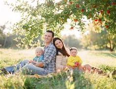 Cute family pose for a family of four.
