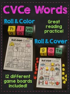CVCe words roll - so much fun for learning long vowels with silent e