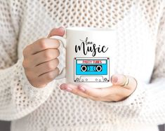 Items similar to Love Music Mug Cassette Tape Mug Music Mug Music Lover Gift Music Teacher Mug Retro Music Coffee Mug Musician Mug Mug DJ Mug Mug on Etsy Music Themed Parties, Music Party, Gift For Music Lover, Music Lovers, Festival Packing List, Music Quotes Life, Music Room Organization, Color Songs, Coffee Music
