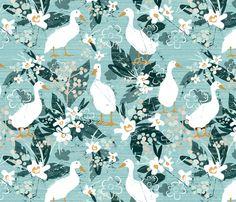 Farmhouse Ducks fabric by sarah_treu on Spoonflower - custom fabric