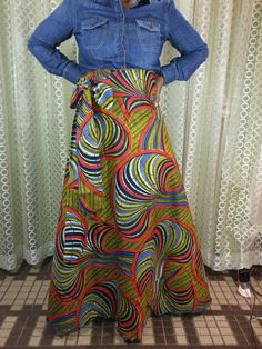 SHOP AFRICAN in PLUS SIZE ALSO- Wax Print Maxi SKIRTS High by HISINSPIRATIONWRAPS