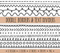 Instand descargar dibujado a mano doodle texto divisiones y fronteras con varios diseños - triángulos, puntos, rayas, círculos, chevron, lazos, vides, bordes festoneados y más. El sistema incluye 12 diferentes diseños en colores blanco y negro. Estos garabatos dibujados a mano caprichosa son perfectas para dar un toque muy lindo a cualquier proyecto de arte, pegatinas de embalaje de regalo, scrapbooking, papelería, decoración casera y mucho más. Imágenes pueden fácilmente cambiar de tamaño…
