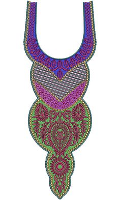 Neck Embroidery Design 10945
