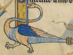 """Detail from """"The Rutland Psalter"""", medieval British Library Add MS f Medieval Dragon, Medieval Art, Dream Images, Carving Designs, Historical Art, British Library, Christian Art, Illuminated Manuscript, Beast"""