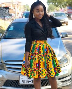 How to Rock African Print Styles to Lectures with Swag – Africavarsities Short African Dresses, African Inspired Fashion, Latest African Fashion Dresses, African Print Fashion, Fashion Prints, Ankara Fashion, Africa Fashion, Nigerian Fashion, Ghanaian Fashion