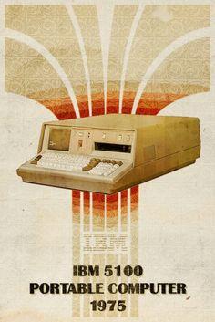 "cluboftigerghost: ""Photo http://ift.tt/2mHy0VF "" IBM 5100 Portable Computer Advertisement"