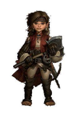 f Halfling Ranger Leather Axe Crossbow