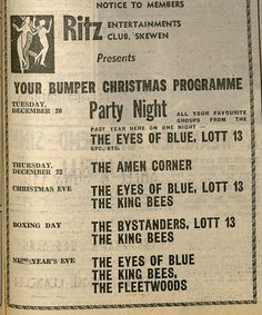 The Ritz in Skewen, THE place for gigs in the mid 60s. Yes, Skewen.