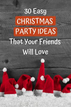 Looking for EASY Christmas party ideas for this year's holiday bash? Check out this post for ideas about themes, decorations, games, and more! Christmas Party Menu, Christmas Party Games For Groups, Christmas Party Ideas For Teens, Holiday Party Themes, Adult Christmas Party, Adult Party Themes, Office Holiday Party, Simple Christmas, Ideas Party