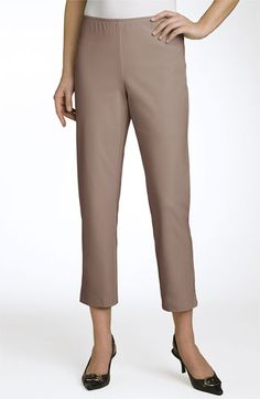 Eileen Fisher Organic Stretch Twill Ankle Pants (Petite) | Nordstrom