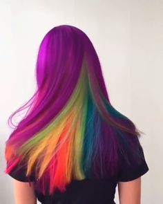 OBSESSED with this neon technicolor look by hair wizard - have you tried our Brights collection yet? OBSESSED with this neon technicolor look by hair wizard - have you tried our Brights collection yet? Hair Color Purple, Blonde Color, Cool Hair Color, Rainbow Hair Colors, Rainbow Dyed Hair, Bright Hair Colors, Rainbow Theme, Colorful Hair, Neon Colors