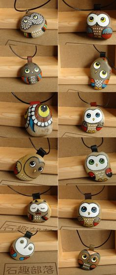 Painted owl rocks. So cute!