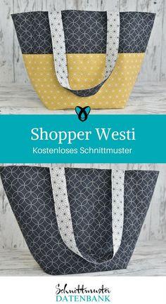 Shopper Westi Handtasche kostenloses Schnittmuster gratis Nähanleitung Einkaufstasche Nähen mit Baumwolle