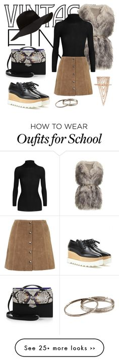 """""""First Day of School"""" by madeleine-icon on Polyvore featuring mode, PINGHE, STELLA McCARTNEY, Gucci, Topshop, Fendi, Lauren Craft en vintage"""