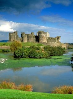 Caerphilly Castle In Wales.i Would Like To Visit This Place One Day.please Check Out My Website Thanks.www.photopix.co.nz