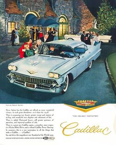 Mad Men, Vintage Ads, Cadillac, Paradise, Advertising, Retro, Classic, Derby, Neo Traditional