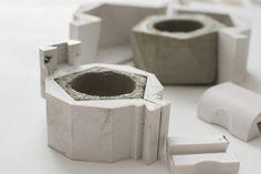Icosaedro plantador molde Set 3D molde impreso por BoldConcrete