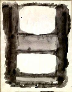 Mark Rothko, Sans titre (1961) Encre et lavis sur carton (28 x 22)    on ArtStack #mark-rothko #art