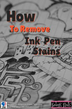 Remove Ink Pen Stains from Clothing. Don't throw that expensive new top out just because it's got an ink stain, remove it quick and easy with this Haley's Hint.