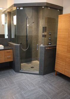 Bathrooms - modern - bathroom - charlotte - TILE COLLECTION INC