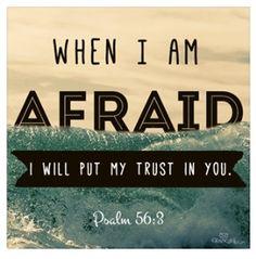 When I am afraid I will put my trust in You. -Ps. 56.3 #faith via Yank In Australia