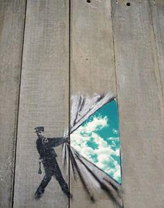 eluard  liberte street art gif