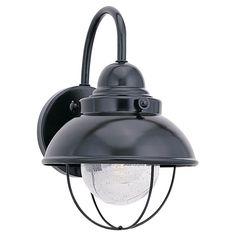Sea Gull Lighting Sebring Black 100-Watt Outdoor Wall Lantern | Overstock™ Shopping - Big Discounts on Sea Gull Lighting Wall Lighting $111.24