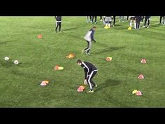 When you participate in soccer training, you will find that you are introduced to many different types of methods of play. One of the most important aspects of your soccer training regime is learning the basics of kicking the soccer b Soccer Warm Up Drills, Soccer Warm Ups, Hockey Drills, Football Drills, Soccer Practice, Soccer Skills, Youth Soccer, Kids Soccer, Soccer Games