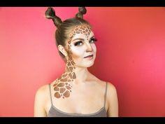 Giraffe Halloween Makeup Tutorial - YouTube