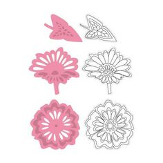 Marianne Design Collectables Cutting Dies & Clear Stamps - Flowers & Leaf 2 COL1304 - 62,00Lt