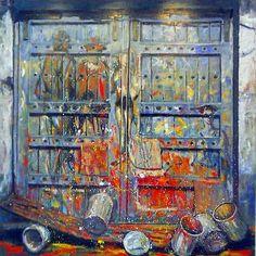 "José Gómez 2011 • ""Familia de Saltimbanquis , Picasso"" • oleo • 200x200 cms"