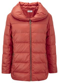 Damart burnt orange down parka, product code T114. www.damart.co.uk