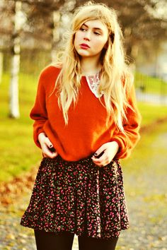 My never ending love for skater skirts and comfy sweaters will be my downfall.