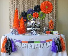 Owl Themed Halloween Party with Lots of Cute Ideas via Kara's Party Ideas   KarasPartyIdeas #Halloween #Party #Ideas #Supplies #OWL