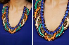 GroopDealz | In The Know Beaded Statement Necklace