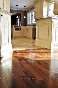 beautiful ceramic tile and wood parquet fusion floor. | parquet e ... - Parquet E Piastrelle Cucina