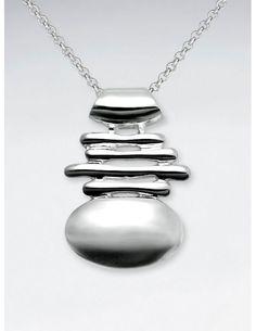 Fundido Pendant, Sterling Silver