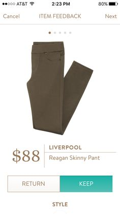 Liverpool Reagan Skinny Pant -- These (or the Rizzo) in plain brown could be great!